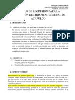 Un Modelo de Regresión Hospital Gral
