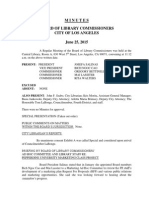 BOARD OF LIBRARY COMMISSIONERS CITY OF LOS ANGELES June 25, 2015