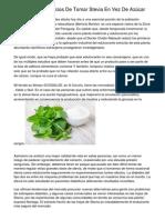 7 Increíbles Beneficios De Tomar Stevia En Vez De Azúcar