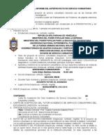 Lineamientos Para El Informe Del Anteproyecto de Servicio Comunitario 2014
