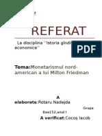 Monetarismul American