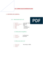 Proyecto Curricular Diversificado