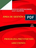 Presentacion Programa Previniendo Adicciones