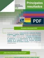 Inegi Encuesta Intercensal 2015