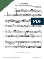 [Clarinet_Institute] Posadas El Simpatico for Clarinet and Bassoon