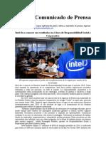 Intel Da a Conocer Sus Resultados en El Area de Responsabilidad Social y Corporativa