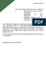 Solicito licencia