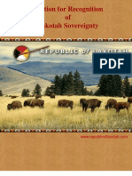 Petition for Recognition of Lakotah Sovereignty, February 2008