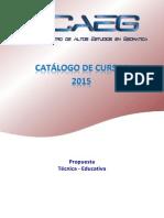 Catálogo de Cursos caeg