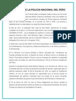 Creacion de La Policia Nacional Del Perú