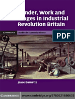 Joyce Burnette - Gender, Work and Wages in Industrial Revolution Britain