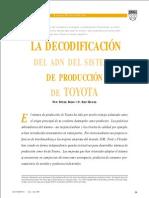 La decodificacion del ADN del sistema de produccion de Toyota