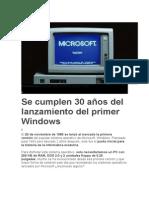 Evolucion Windows
