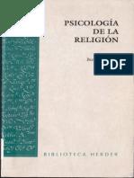 Psicología de la Religión (fragmento)