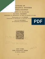 Outline of the Vedanta System of Philosophy-Paul Deussen
