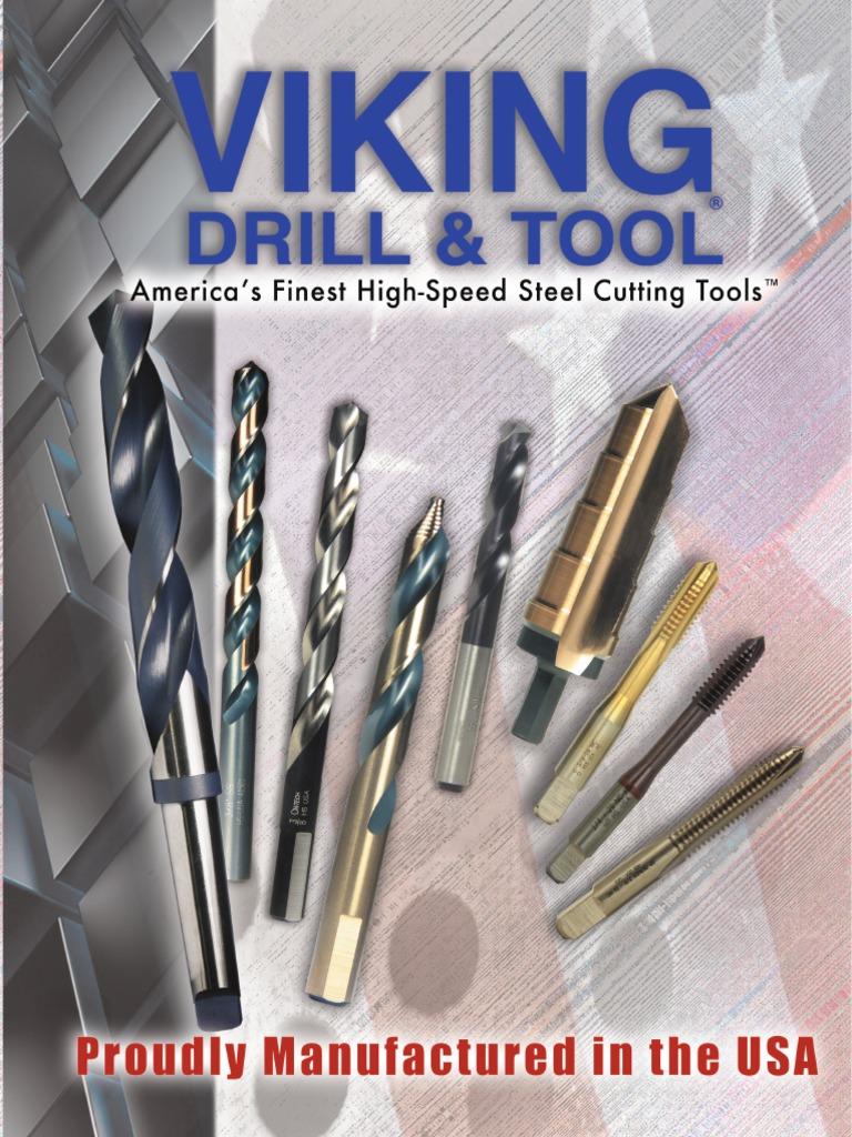 12 Pack Viking Drill and Tool 39030#10 Type 240-UB 135 Degree Split Point Magnum Super Premium Jobber Drill Bit