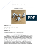 2nd grade lesson plan - clay animals
