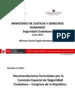 Exposicion Ministro Justicia