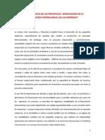 LAS PRINCIPALES  MODALIDADES DE LA FINANCIACIÓN INTERNACIONAL DE LAS EMPRESAS