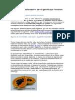 Remedios Caseros Para La Gastritis Que funcionan