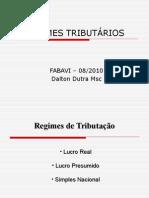 Regimes Tributários ETEC (Aula Teste para concurso de professores)