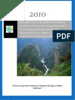 Informe Final de Demanda Hídrica Actual y Futura en La Región Cusco