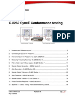 CX5001 G.8262 SyncE Conformance Testing App Note v10
