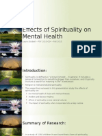 effects of spirituality on mental health ls 2015