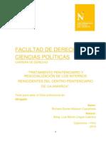 TRATAMIENTO PENITENCIARIO Y  RESOCIALIZACIÓN DE LOS INTERNOS    REINCIDENTES DEL CENTRO PENITENCIARIO    DE CAJAMARCA