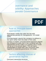 Governance and Responsibility - Lecture 3 Approaches to Corporate Governance
