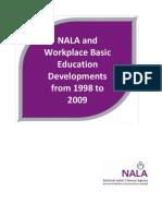 NALA and Workplace Basic Education Developments 1998-2009