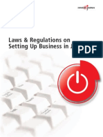 Laws and Regulations for Setting Up a Business in Japan