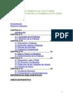 Caracteristicas y Factores Determinantes de La Pobreza en El Peru