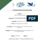 Investigacion Tema 1.3 Arquitectura de Internet Benita