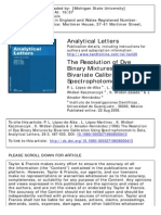The Resolution of Dye Binary Mixtures by Bivariate Calibrati