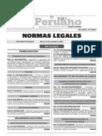 Normas Legales, miércoles 9 de diciembre del 2015