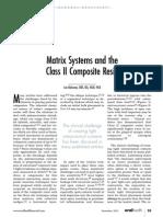 Clase II Resina compueta y sistemas Matrices