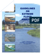 Guidelines on Extreme Flood Analysis