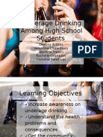 underage drinking among high school students