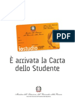 La Carta Dello Studente - Agevolazioni