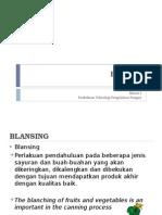 Blanching