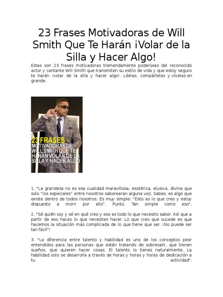 23 Frases Motivadoras De Will Smith