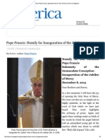 Pope Francis Homily to Inaugurate the Jubilee of Mercy