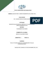 Reporte Del Capitulo 5 Y 6 Capa de Red de OSI Y Direccionamiento IPV4_BENITA