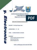 LABORATORIO N3 - Filtros Pasivos y Activos