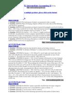 ACCT 551 Intermediate Accounting II