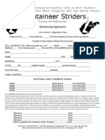 Mountaineer Striders Membership Application