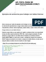 Ejemplos de Sentencias Para Trabajar Con Tablas Internas - ABAP