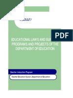 Mod 1 Educ Laws & DepEd PPAs