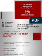 Start Up Support as Innovative Opportunity for UAE Investors